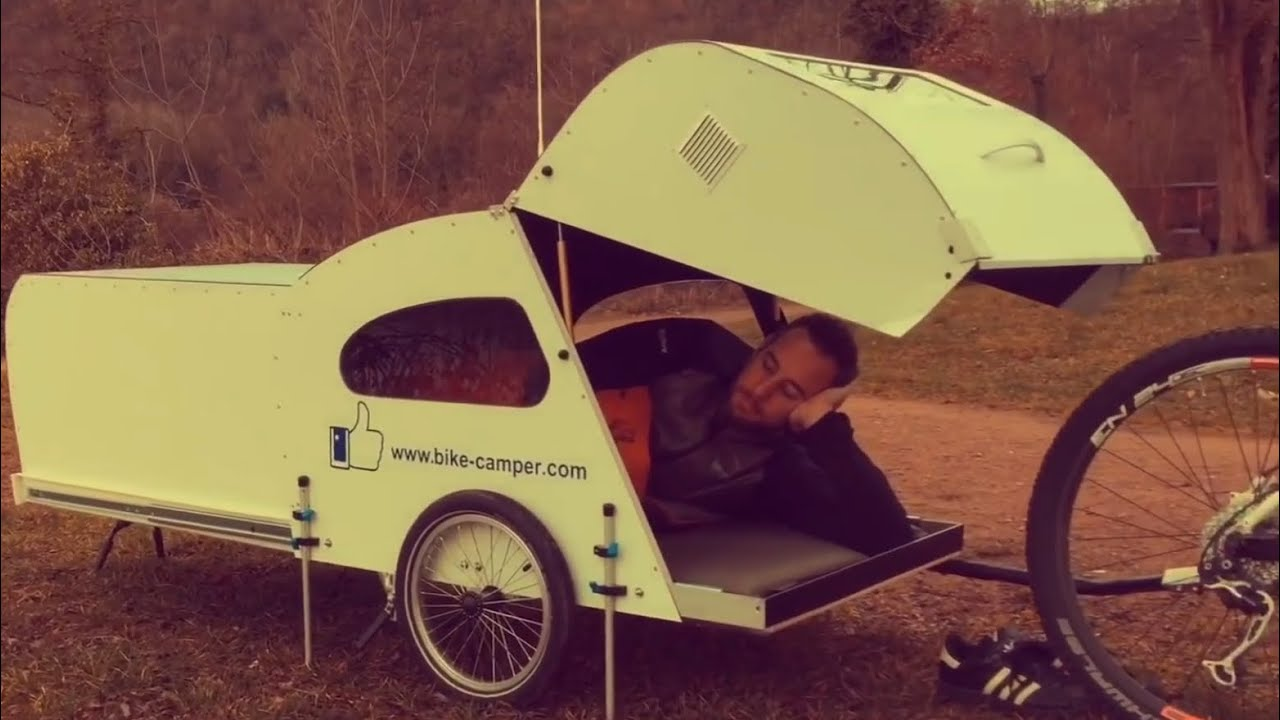 Bike Camper Trailer Bicycle Camper Youtube