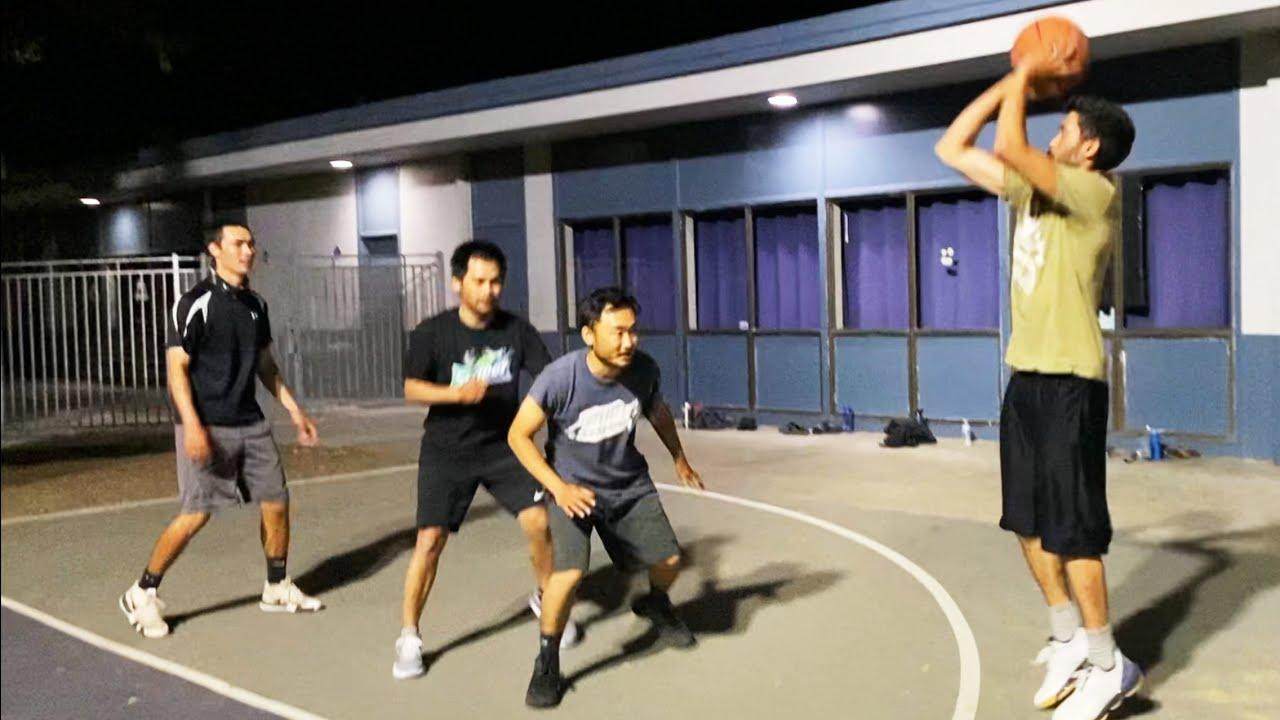3 on 3 Basketball game   Bay Area Fishing Youtubers