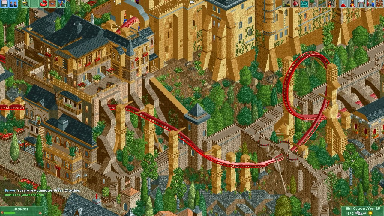 My Experience With The Roller Coaster Tycoon 2 Multiplayer [OpenRCT2]