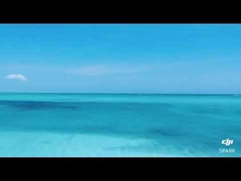 Aeral view of princess Alexandria marine park Turks and caicos