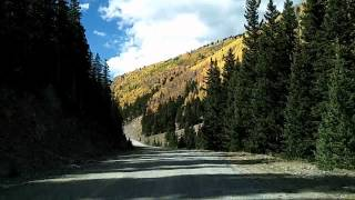 Forest Roads north of Red River Drivelapse: 2of2 Greenie Peak, Questa