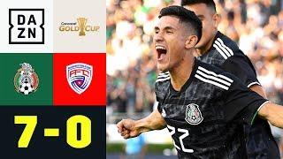 Uriel Antuna mit Dreierpack bei Schützenfest:  Mexiko - Kuba 7:0 | Gold Cup | DAZN Highlights