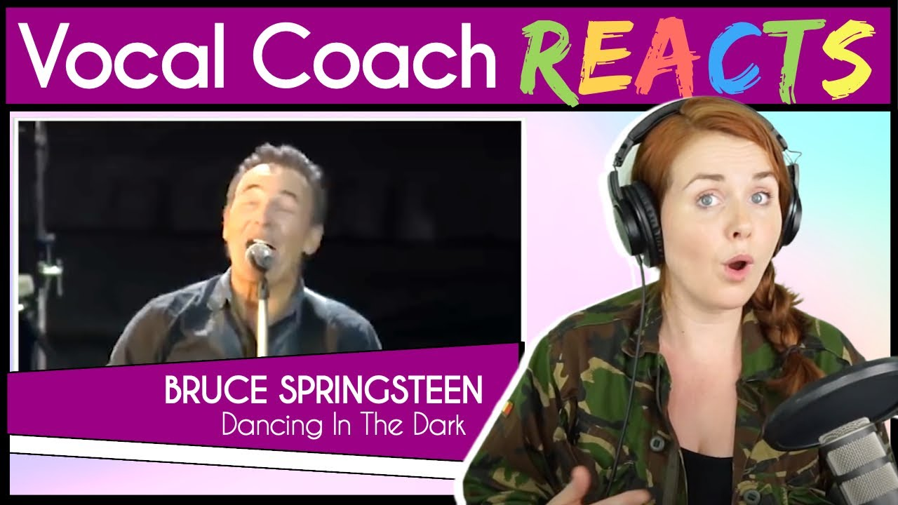 Vocal Coach reacts to Bruce Springsteen - Dancing In the Dark (Live)
