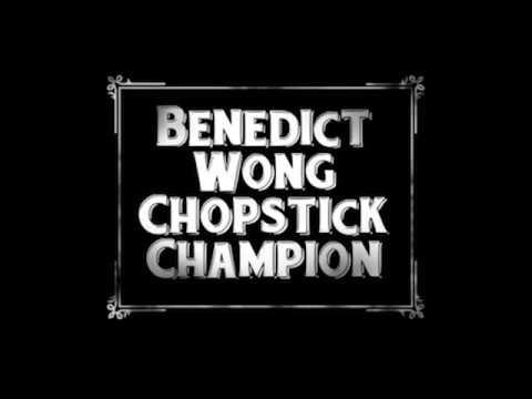 Benedict Wong Chopstick Champion