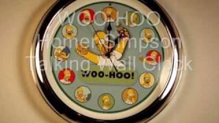 WOO-HOO Homer Simpson Talking Wall Clock.wmv