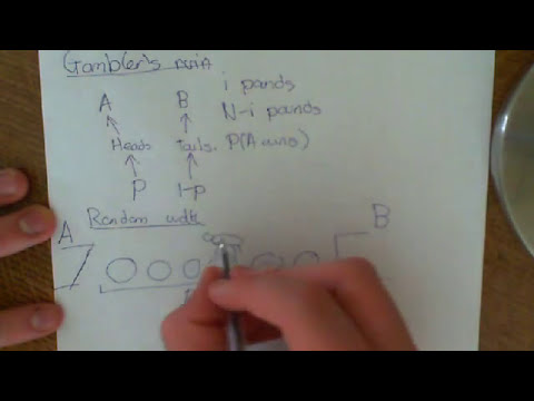 The Gambler's ruin / Random Walk Problem Part 1