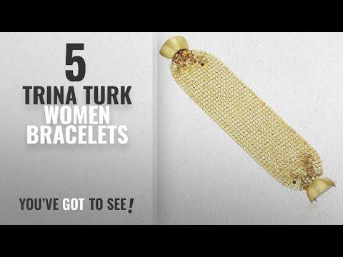 "10 Best Trina Turk Design Women Bracelets: Trina Turk ""Midnight Studio"" Chainmail Bracelet"