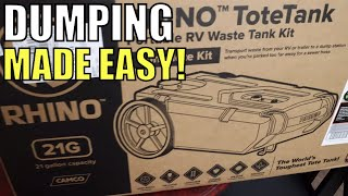 Camco Rhino ToteTank, Portable RV Waste Tank Kit Review
