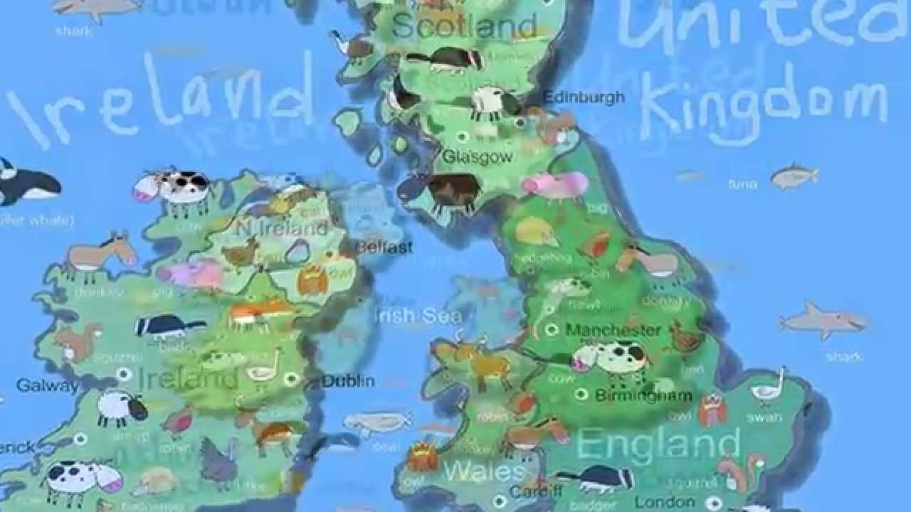 Kids Map Of The UK & Ireland - YouTube