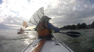 Kayak Sailing with Falcon Sails - East Side of South Bass Island - Lake Erie Thumbnail
