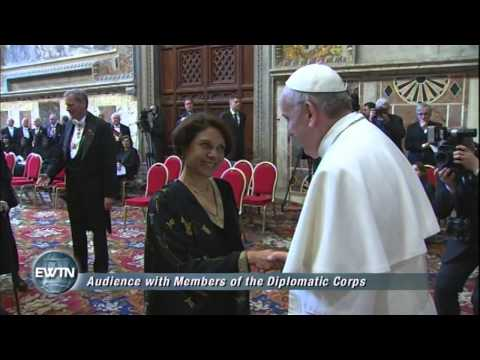 Papal Audience with Diplomats - 2013/03/22