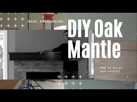 DIY Oak Fireplace Mantle