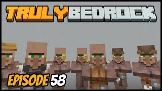 Villager Trading Station And Frustration! - Truly Bedrock (Minecraft Survival Let's Play) Episode 58