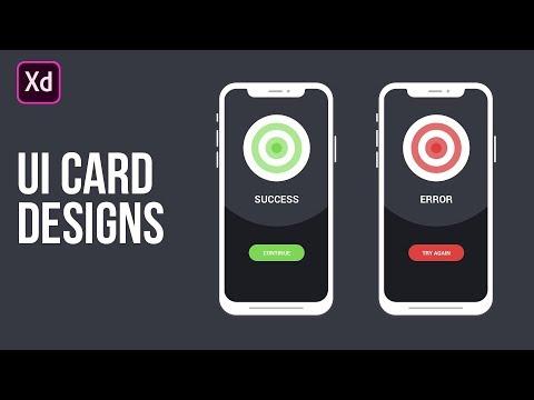 UI Card Design in Adobe XD Tutorial thumbnail
