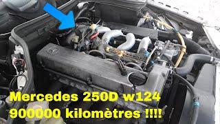 Mercedes W124 accélération moteur 250d om 602 ,  895000 kilomètres .