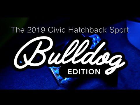 The 2019 Civic Hatchback Sport: The Bulldog Edition