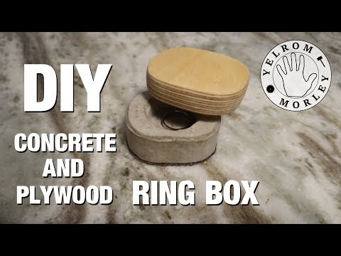 Making a Concrete and Plywood Ring Box with Basic Tools