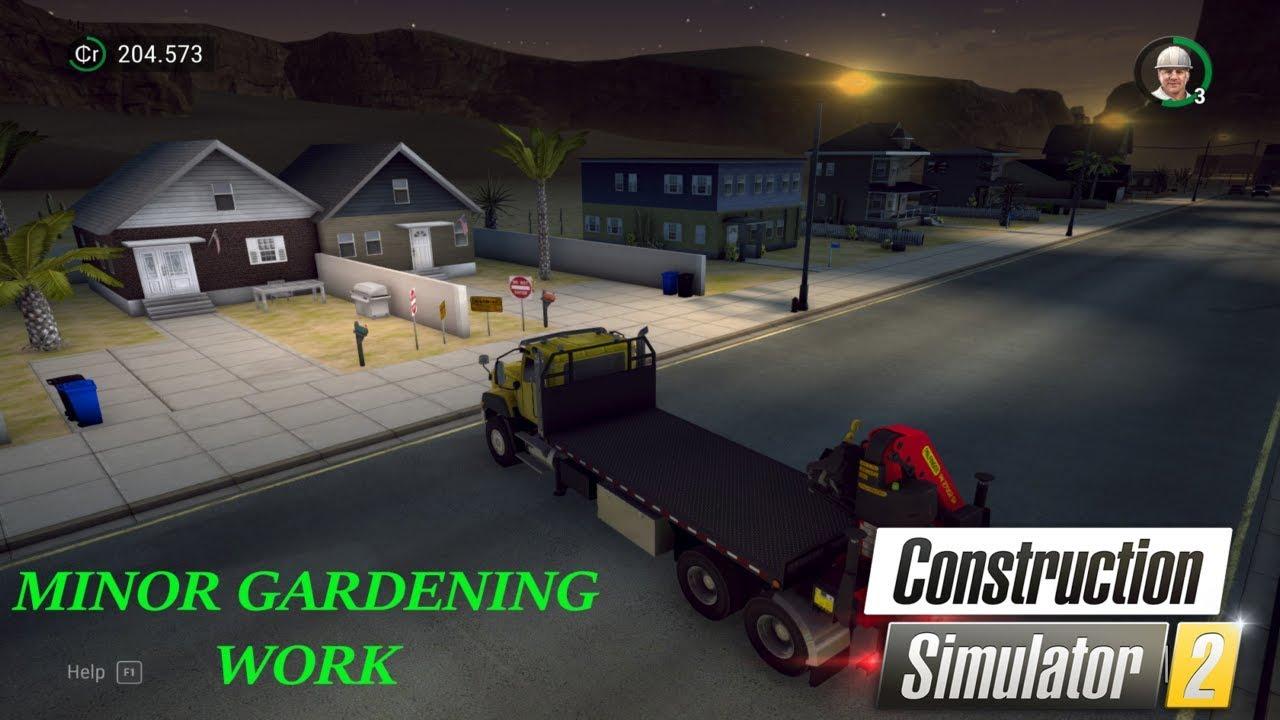 Video - Minor Gardening Work Construction Simulator 2 PC