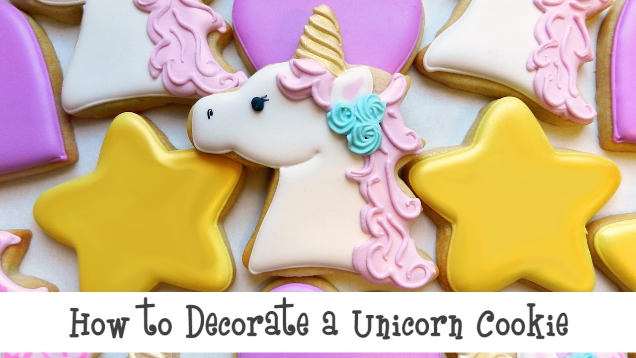 How To Decorate A Unicorn Cookie Youtube
