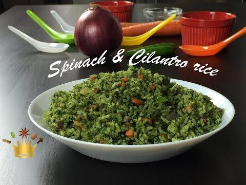 Spinach & Cilantro Rice / Green rice