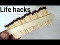 Top 4 matches life hacks & tricks