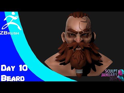 SculptJanuary19 Day 10 Beard