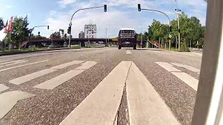 Kymco Yager GT 50 Onboard-Video-Drive from Hamburg to the Harburg-Hills