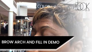 Full eyebrow arch demo with fill in