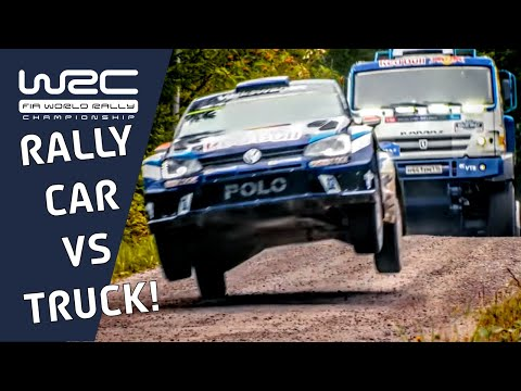 VW Polo R WRC vs. KAMAZ truck