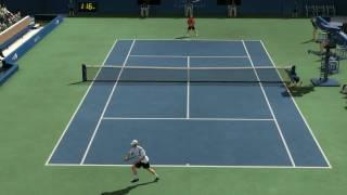 Top Spin 3, Roddick vs Federer ,US Open. hard difficulty.pt.1. HD