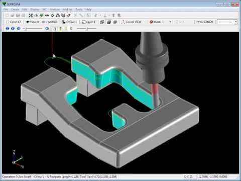 SURFCAM Tutorial - 5-Axis Swarf: Morph Between Two Curves