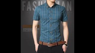видео Рубашка мужская короткий + длинный рукав Код 629/767