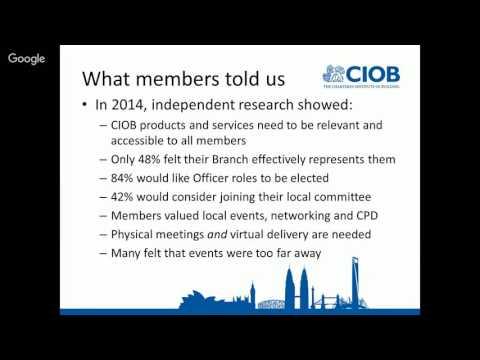 One CIOB Webinar