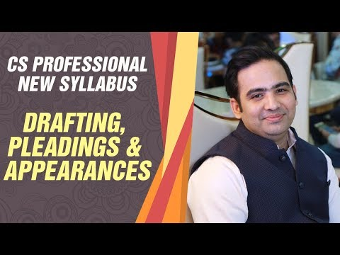 Drafting, Pleadings and Appearances- Advocate Sanyog Vyas