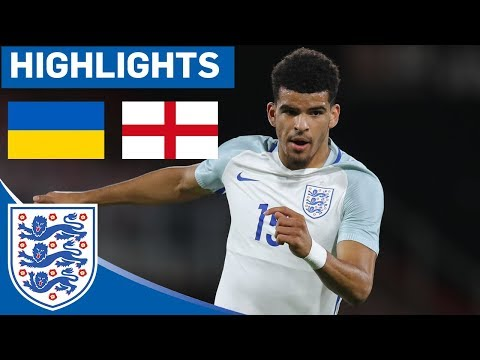 Great Finish from Solanke Helps Secure Comfortable Win | Ukraine 0 - 2 England U21 | Highlights