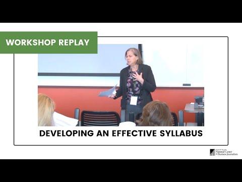Developing an Effective Business Journalism Syllabus