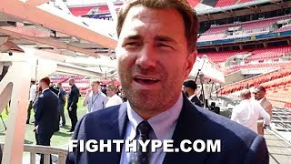 EDDIE HEARN REVEALS JOSHUA'S APRIL BACKUP PLAN IF NO WILDER; DEBUNKS MAYWEATHER-PACQUIAO COMPARISON