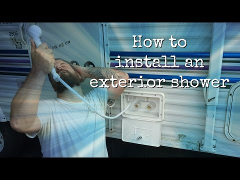 How To Install An Rv Exterior Shower