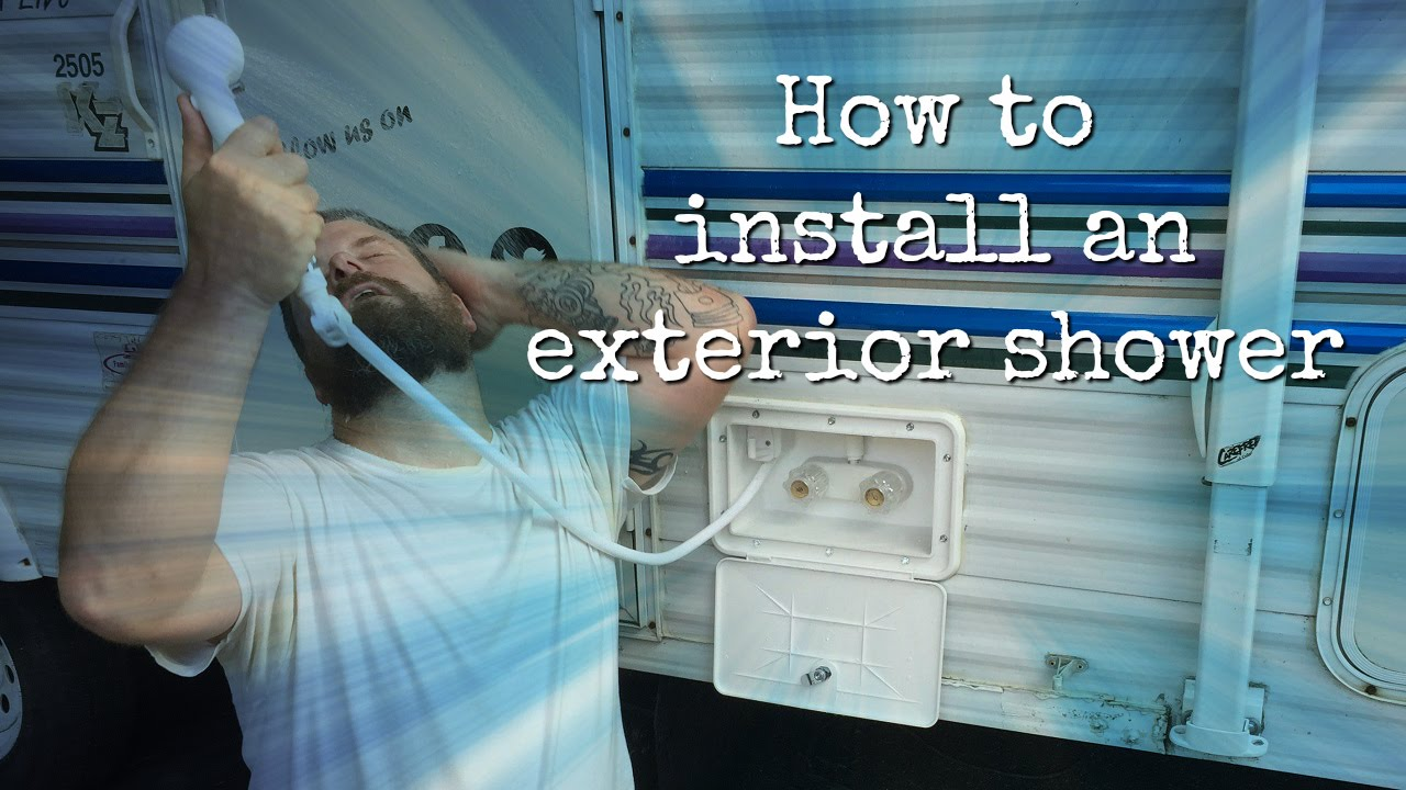 How to install an RV exterior shower - YouTube