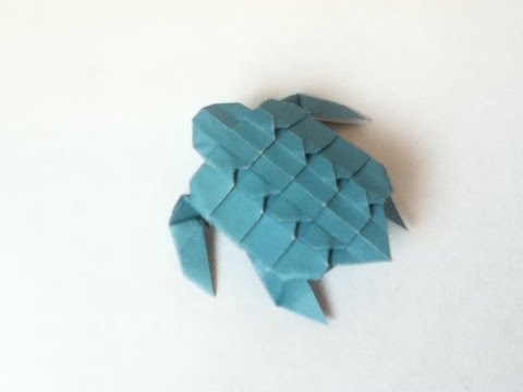 Origami Baby Sea Turtle tutorial (Neige A.)