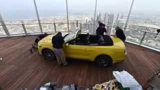 El Ford Mustang sube al Burj Khalifa de Dubai