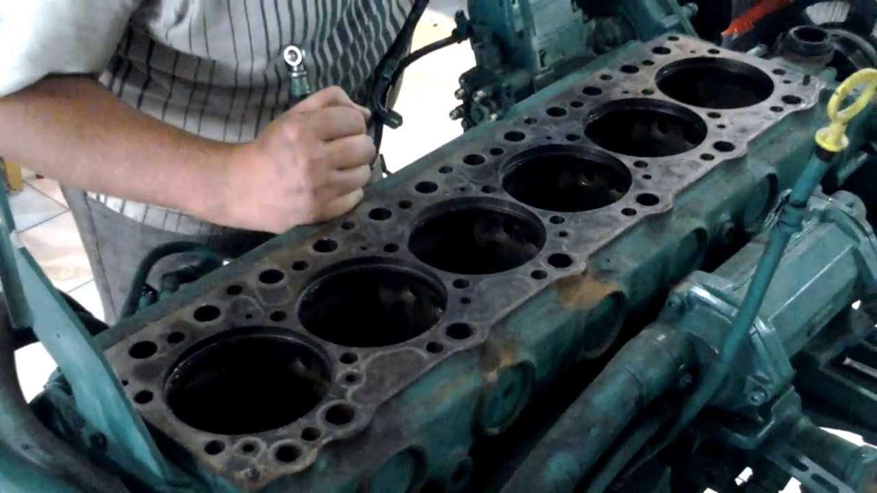 Volvo Penta kad300 - ремонт - YouTube