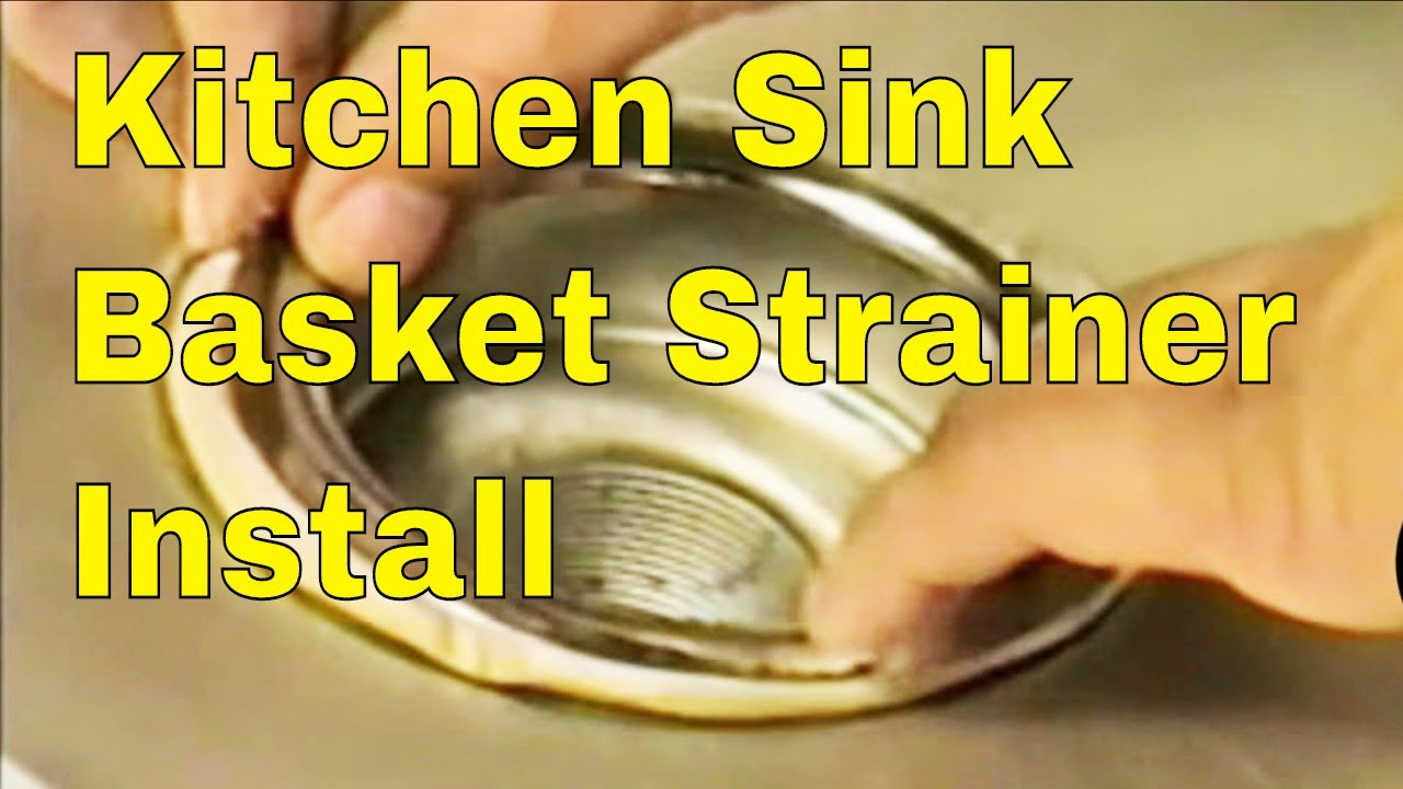 Kitchen sink basket strainer install youtube for Llaves para fregadero