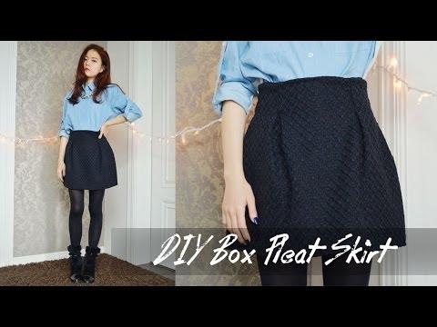 DIY Box Pleat Skirt - YouTube