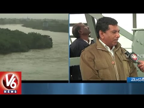 Water Levels Increases In Singur Project With Heavy Inflow | Medak | V6 News