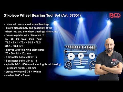 Tutorial: 31-piece Wheel Bearing Tool Set (Art. 67301)