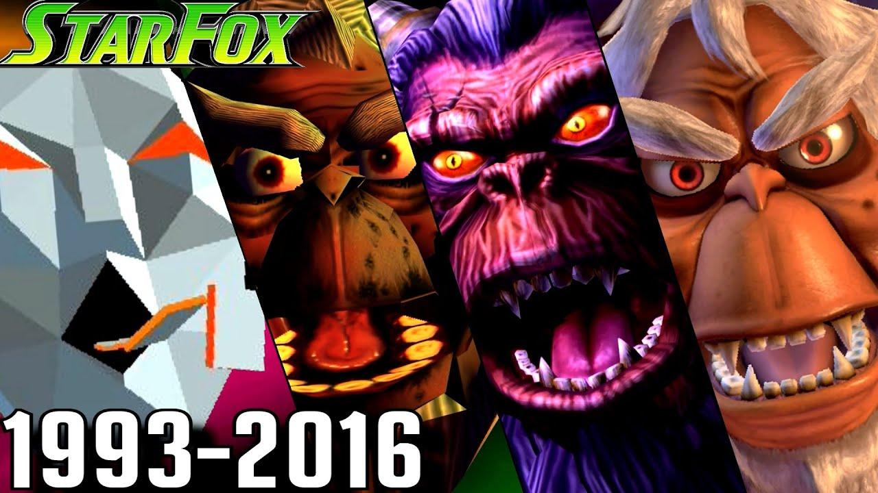 Evolution of Andross Battles in Star Fox Games (1993-2016)