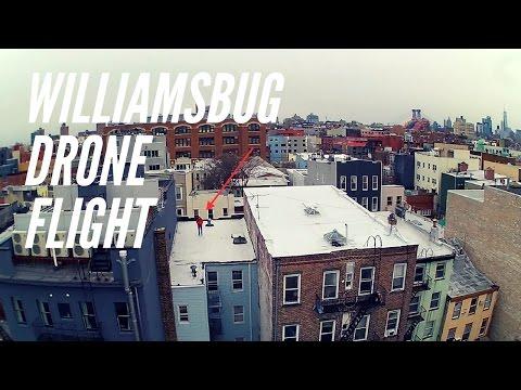 Drone Flight in Williamsburg, Brooklyn
