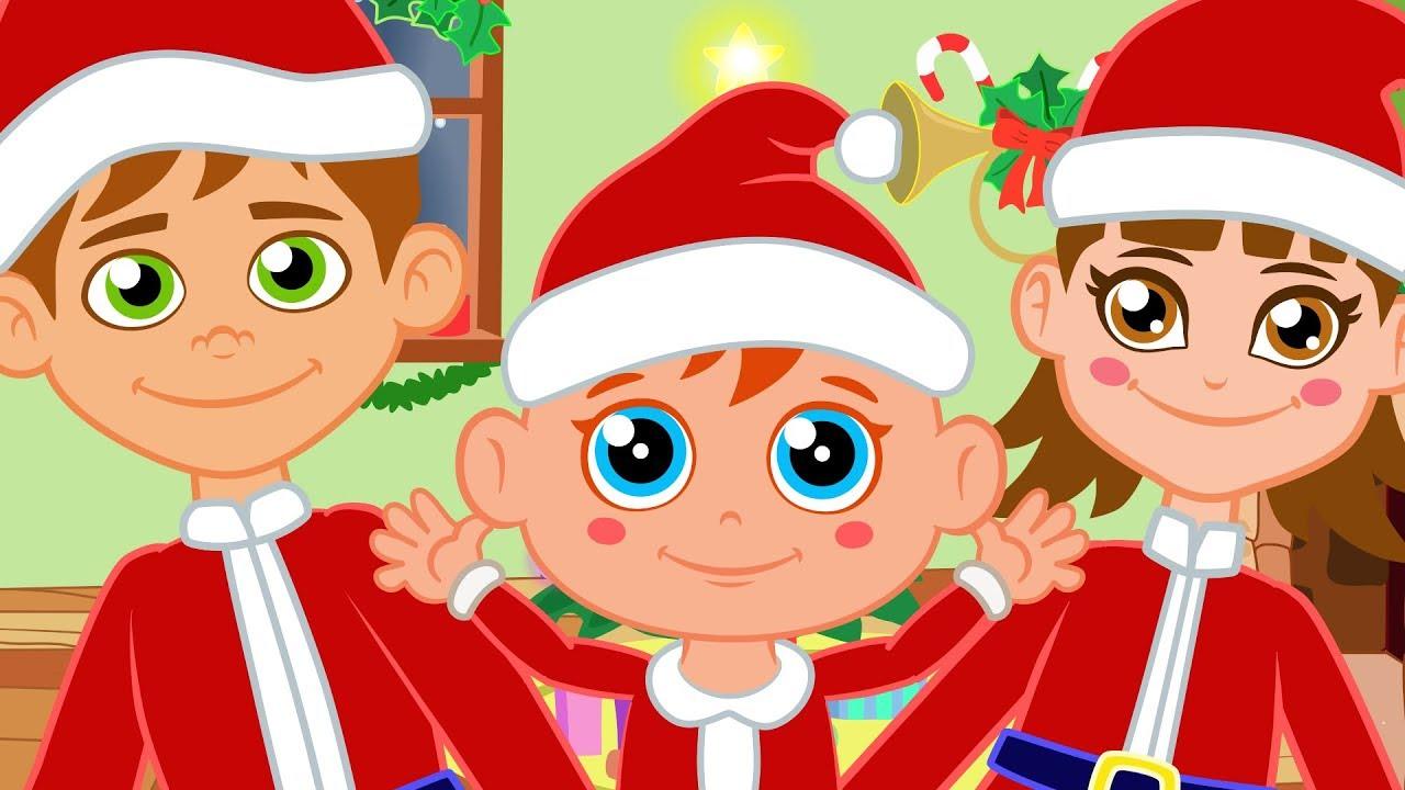 Cabeza Hombros Rodillas Pies con Papá Noel - Canciones de Niños