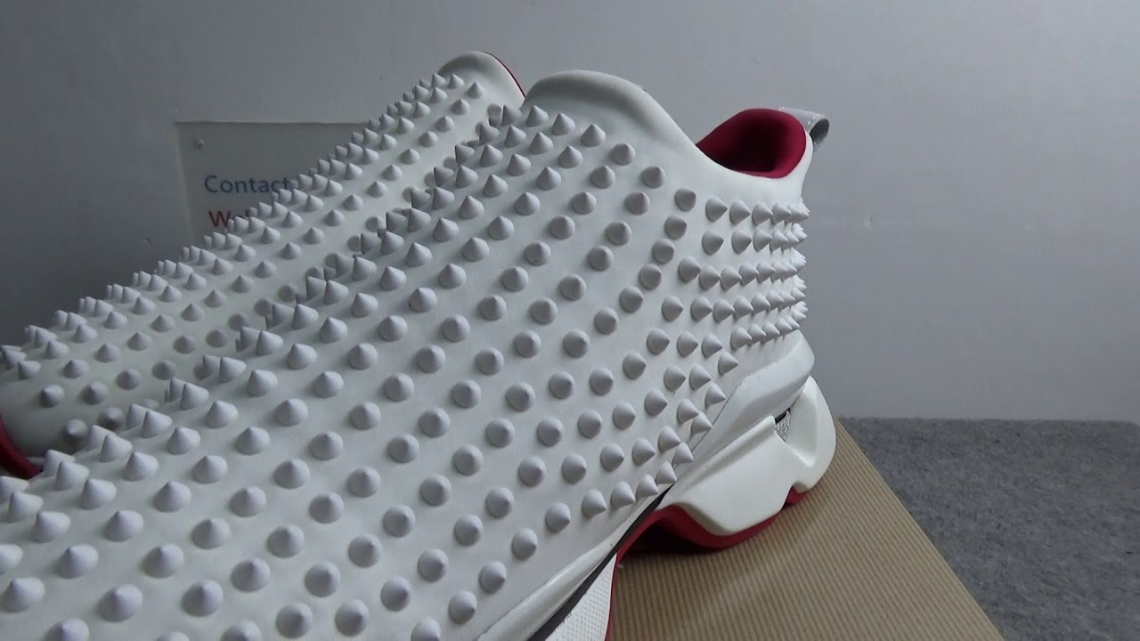 spike sock donna red sole sneakers